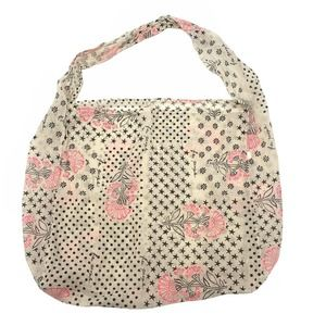 Free People Large Reusable Fabric Carry All Shopping Tote Bag